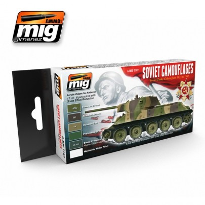 A.MIG-7107 1935-1945 SOVIET CAMOUFLAGES SET