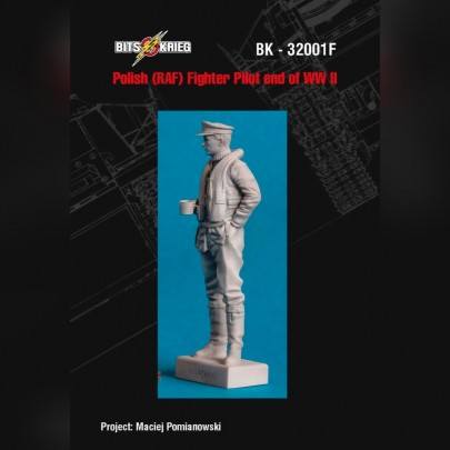 1/32 BitsKrieg BK32001F End of WWII Polish Pilot (RAF) figure