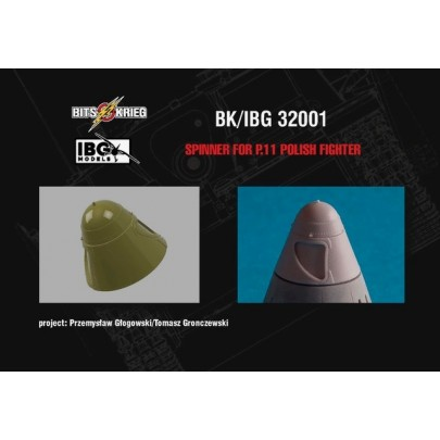1/32 BitsKrieg BK/IBG32001 Spinner for PZL P.11c - Polish Fighter (fits IBG 32001)