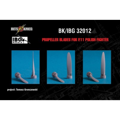 1/32 BitsKrieg BK/IBG32012 Propeller blades for PZL P.11C Polish Fighter (fits IBG 32001)