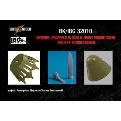 1/32 BitsKrieg BK/IBG32010 Spinner, Propeller blades & cover for PZL P.11C Polish Fighter (fits IBG 32001)