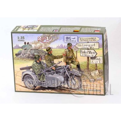 1/35 IBG 35002 BMW R12 Motorcycle with Sidecar - military versions (2 in 1)