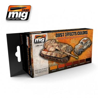 A.MIG-7106  RUST EFFECTS COLORS
