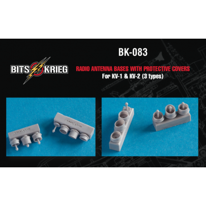 1/35 BitsKrieg BK-083 Radio Antenna bases with protective covers for KV-1 & KV-2 (3 types)
