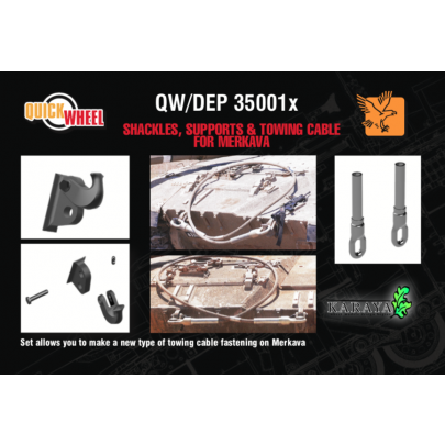 1/35 Desert Eagle Publishing QW/DEP-35001X Shackles, Supports & Towing cables for Merkava tanks