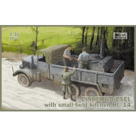 1/35 IBG 35007 Einheitsdiesel with small field kitchen Hf.14