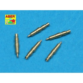 35 L-083 Set of 5 pcs. German Tank MG 34 machine guns tips barrels for turret mount