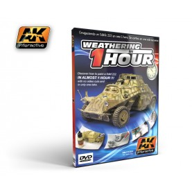 AK036 WEATHERING IN ONE HOUR Sd.kfz 222 (PAL)