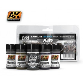 AK2037 Exhaust Stains Weathering Set (Air Series)