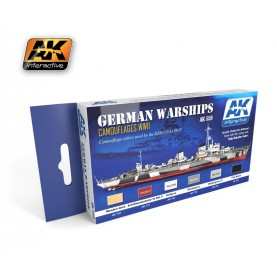 AK559 Colors for German Warships Acrylic Set