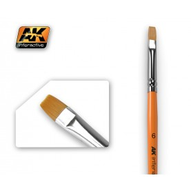 AK611 Flat Brush 6 Synthetic