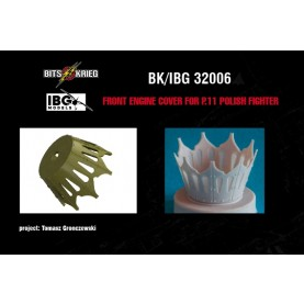 1/32 BitsKrieg BK/IBG32006 Front engine cover for PZL P.11C Polish Fighter - (fit IBG 32001)