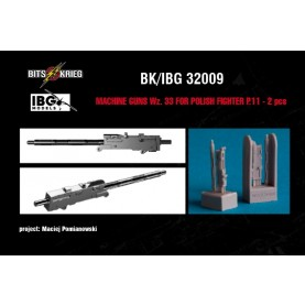 1/32 BitsKrieg BK/IBG32009 wz.33 Machine Guns for PZL P.11C Polish Fighter (fits IBG 32001)