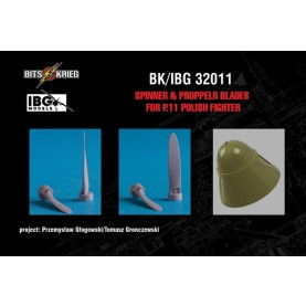1/32 BitsKrieg BK/IBG32011 Spinner & Propeller blades for PZL P.11C Polish Fighter (fits IBG 32001)