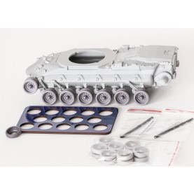 1/35 BitsKrieg BK-060 U.S. MBT M48 & M60 Resin Wheels (Steel rim type) w/ spare + QuickWheel mask