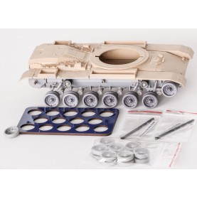 "1/35 BitsKrieg BK-061 U.S. MBT M48 & M60 Resin Wheels (Aluminium ""Spider"" rim type) w/ spare + QuickWheel mask"