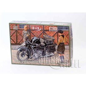 1/35 IBG 35001 BMW R12 Motorcycle with Sidecar - civilian versions (3 in 1), included version annexed by Wehrmacht