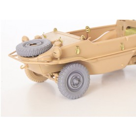 1/35 QuickWheel QWX-035 Schwimmwagen wheels + spare wheel, Off-road tread 1